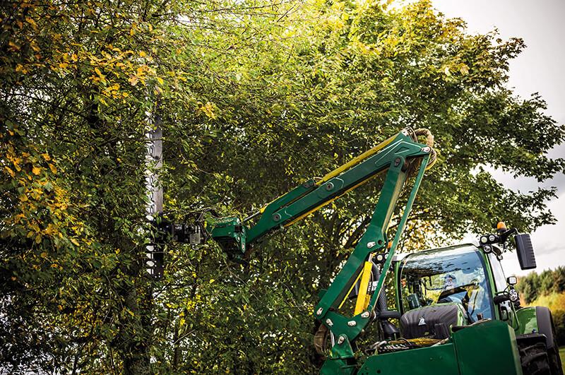 a Special application cuts a hedge