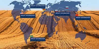 Weltkarte mit Standorten
