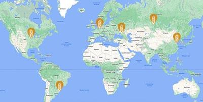 ale Standorte weltweit
