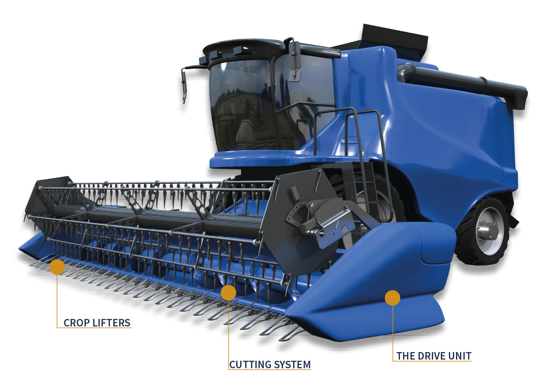 Group Schumacher combine harvester graphic with lettering